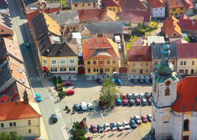 Uhlířské Janovice - letecký pohled