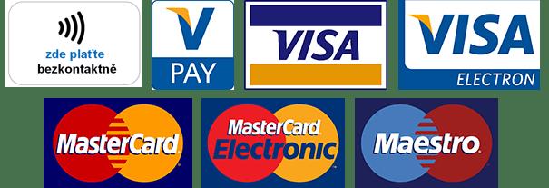 Platba kartou i bezkontaktně